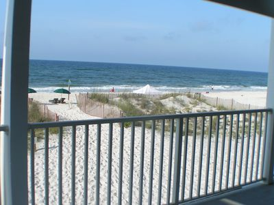 Photo for Beachfront Balcony First Floor