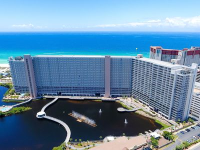 Photo for New! Luxury Panama City Beach Ocean view 3BR/2BA condo. beach. pools. sleeps 6