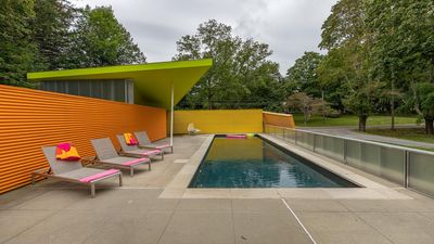 Photo for New Listing: Technicolor Paradise, Architectural Masterpiece Amidst Woodlands & Beaches, and Heated Pool