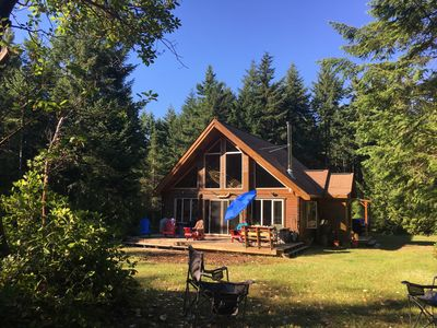 Photo for 10 acres of treed wilderness. Hornby Island BC. And a beautiful cabin