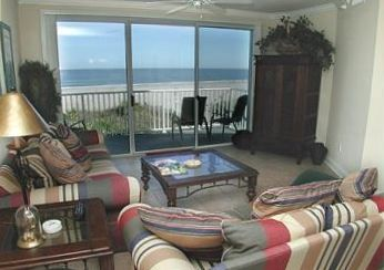 Great Views of Beach and Ocean from Living, Dining, and kitchen area