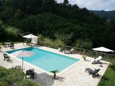 Photo for Ancient villa in the heart of Serravalle Pistoiese with private pool and garden