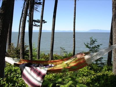 Let your cares melt away in our hammock by the sea.