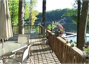 Large deck overlooking the lake.