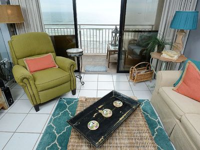 Photo for 2 Bed 2 Bath Gulf Front Master New To Rental Market Many Upgrades 7th Floor