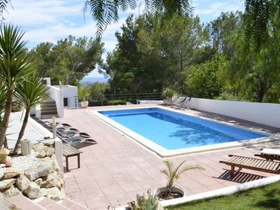 Photo for Villa Ibicenco for 10 guests, overlooking the hillside and sea of Ibiza! Catalunya Casas