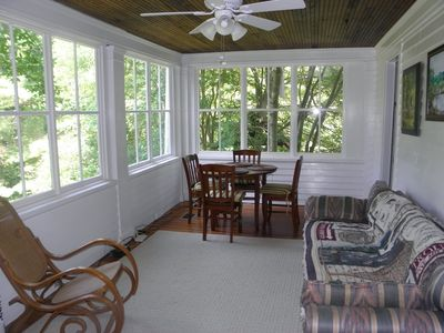 Glassed in Sunporch with Breakfast Eat-In