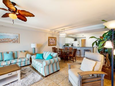 Photo for Gulf-front resort condo w/ 2 on-site lagoon pools, hot tubs & beach service!
