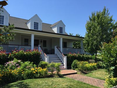 Photo for Great Family Vacation Home - Half block to BEACH!  Great Porches!