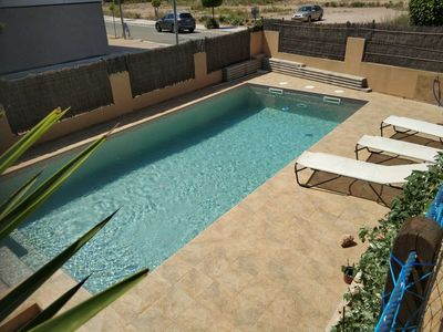 Photo for House with terrace and private pool 200m from the beach, in L'Ampolla