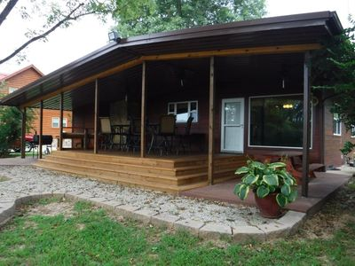 Photo for A luxurious riverside cabin with views of the famous White and Buffalo Rivers!