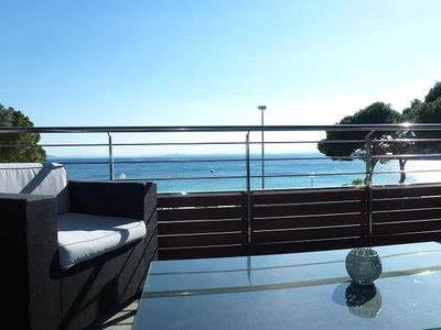 Photo for In front of the beach-Superb NEW apartment with swimming pool, elevator, garage, WIFI