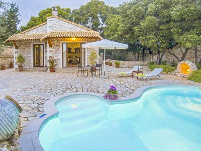 Photo for Villa Nionios: Large Private Pool, Walk to Beach, Sea Views, A/C, WiFi