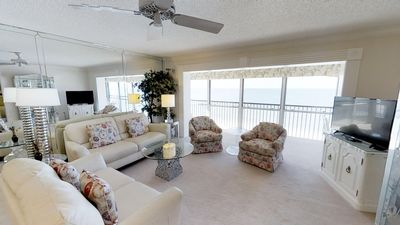 Photo for Center Top Floor Beach Front Penthouse with 180° Gulf Views
