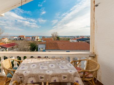 Photo for Two bedroom apartment with terrace and sea view Sabunike, Zadar (A-14490-e)