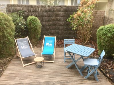 Photo for Nice T2 near market and beaches with private garden in quiet street