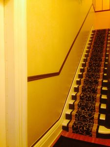 The hallway up to the apartment