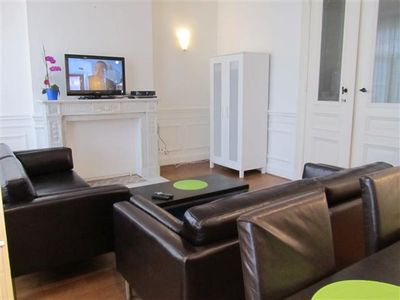 Photo for Spacious Antoine II apartment in Brussels Centre with WiFi, balcony & lift.