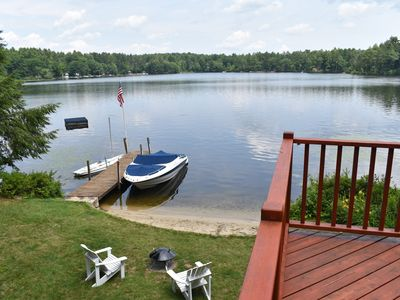 Photo for 4 Bedroom Private LakeFront Property on Lake Winni!