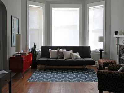 Photo for Cozy & Historic Greystone In Chicago's Logan Square. Train Access + Easy Parking