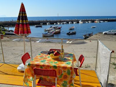 Photo for TR010 Small apartment at the port, 4 beds, wi-fi, 30 meters from the sea