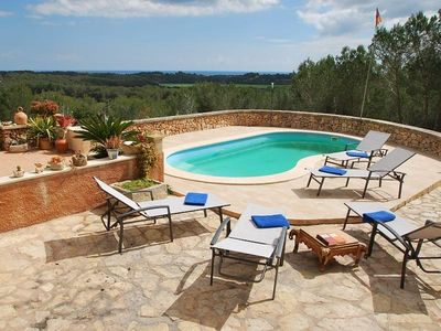 Photo for Charming villa in Cala Murada with stunning views and pool