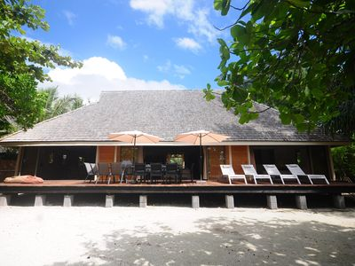 Photo for Villa Miki Miki Beach by ENJOY VILLAS MOOREA , White Sandy Beach on Temae