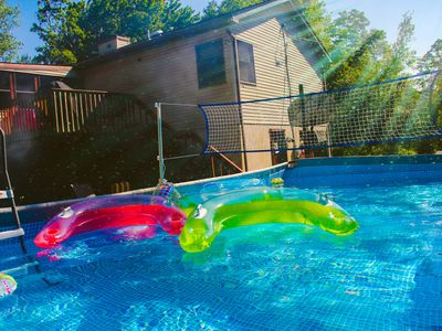 Photo for Coziest home in Mt Pocono Summer is here! 12 guests, 5 bds, 3 bths Pool open