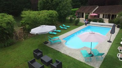 Photo for 4 cottages with fishing ponds and heated pool