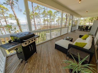 Photo for NEW TO VRBO! Bay Haven, 5BR/5.5BA, Bayfront, Sleeps 12, Dock, Dogs OK!