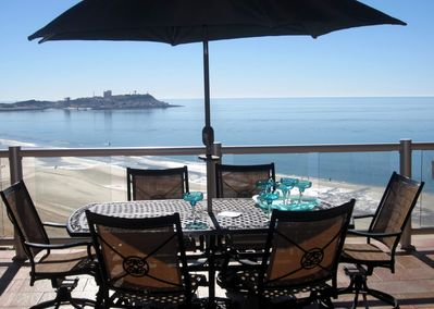 Amazing 24/7 views from our huge Ocean Front balcony