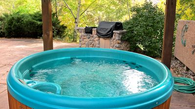 Hot Tub is ready for you and your guests to enjoy just outside the back door!