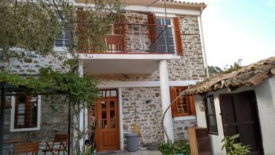 Photo for Traditional stone house with enclosed, idyllic courtyard, near the sea