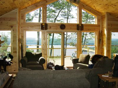 Photo for Spectacular Panoramic Views in a Private Setting with ADK 5 Star Accomodations