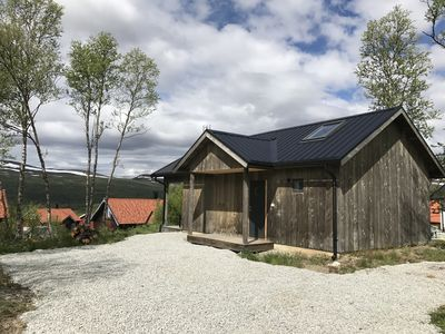 Photo for MODERN HUT IN BRUKSVALLARNA WITH PANORAMIC VIEW OF THE MOUNTAINS - SAUNA - WiFi