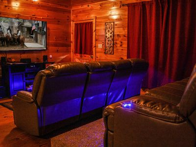 Photo for Ole Smoky Luxury Cabin | Movie Theater/Netflix/HotTub/Deck+ | Wheel Chair Access