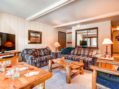 Photo for 7th Night Free! Private Balcony w/River Views, Wi-Fi, Wood Fireplace, Shuttle