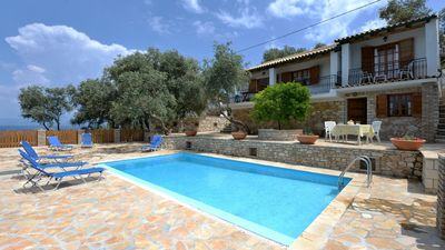 Photo for Villa with pool on Paxos in Ionian Islands