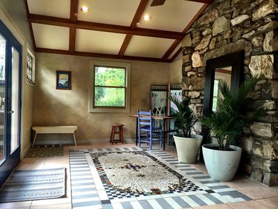 Photo for Peaceful, sun room, gas fireplace, pet friendly, gardens, close to Asheville