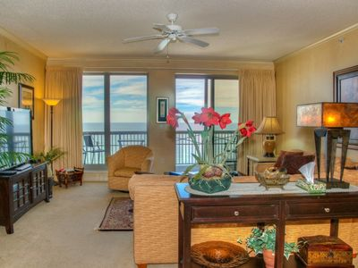 Photo for Stunning Deluxe Ocean Front Condo. Heated outdoor pool, Free wifi!