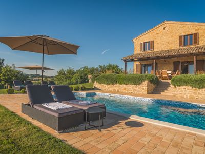 Photo for Stunning Luxury Stone Farmhouse in 10 acres with Private Pool & Fabulous Views