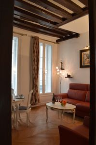 Photo for Luxury apartment with AC in the heart of Le Marais / Place de Vosges