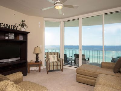 Photo for 0709 - 3 Bedroom 3 Bath. Living Room and Master Bedroom Face the Gulf!