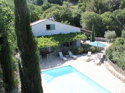 Photo for Little paradise, exceptional view, heated pool, protected village