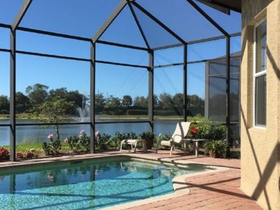 Photo for Stunning Sunsets & Beautiful Water Views at Elegant Home in Gated Community