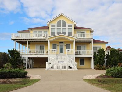 Photo for #448: Partial OCEANVIEW Corolla w/HtdPool, HotTub, Elev, RecRm & ThtreRm