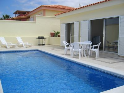 Photo for Detached 3 bed villa with private heated swimming pool and ocean views