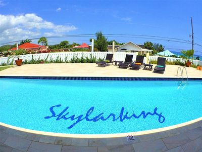 Photo for STROLL TO BEACH IN 5 MINUTES! NEW VILLA! POOL! Skylarking 3br