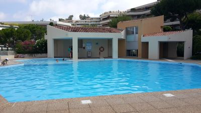 Photo for Nice. Luxury apartment, 3 rooms, terrace sea view, pool, very quiet
