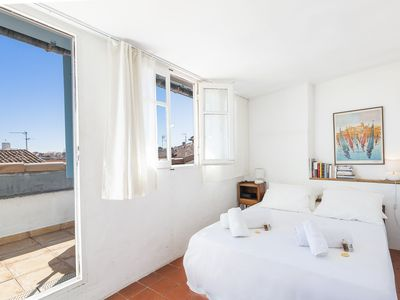 Photo for Charming one bedroom flat  duplex in the heart of Old Antibes